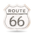 route 66 icon with grunge and rust textures vector image