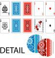 aces joker playing cards vector image