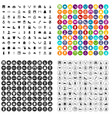 100 vogue icons set variant vector image