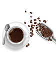 3d realistic cup coffee sccop vector image vector image