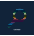 Abstract Creative concept icon of magnifier vector image vector image