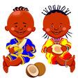 African kids vector image