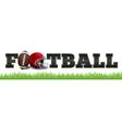 american football word art vector image vector image