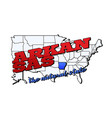 arkansas state with us state on american vector image vector image