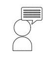 avatar speech bubble talk chat conversation vector image vector image