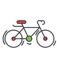 Bicycle bike race concept line icon