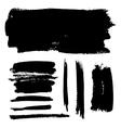 Black brush strokes vector image vector image