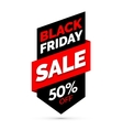 Black Friday sale banner Black and red colors