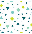 blue and green vintage geometric shapes vector image vector image