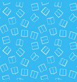 books blue seamless pattern in thin line vector image