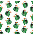 bright seamless pattern with toucans tropic vector image