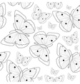 Butterfly hand drawing seamless pattern sketch vector image