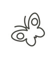 butterfly icon line symbol isolated trend vector image