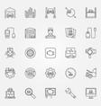 car diagnostics icons set vector image vector image