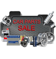 Car Parts Frame vector image vector image