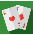 card pair aces vector image vector image