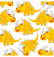 cartoon of the dinosaur eotriceratops decorative vector image vector image