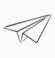 cartoon paper airplane logo of the aircraft made vector image vector image