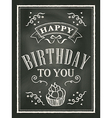 chalkboard birthday card design background vector image vector image