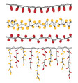 Christmas light garlands set colour isolated
