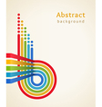 Colored stripes with circles vector image vector image