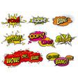 Comic book sound effect speech bubbles