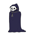 comic cartoon spooky halloween costume vector image vector image