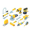 constructions tools drill hammer paintbrush vector image