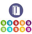 copy book icons set color vector image vector image