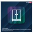 cupboard wardrobe icon vector image vector image