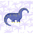 dinosaur brachiosaurus flat vector image