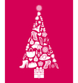 Fashion Christmas Tree vector image vector image