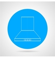 Flat icon for hood extractor vector image vector image