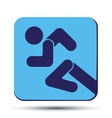 Flat icon with symbol Running people vector image vector image