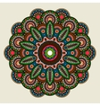 Floral bright colored mandala vector image vector image