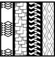 four simple monochrome geometric patterns vector image vector image