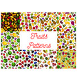 fresh fruit and berry seamless pattern background vector image vector image