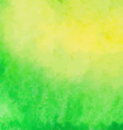 Green and yellow watercolor paint background vector image vector image