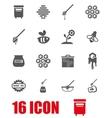 grey honey icon set vector image vector image