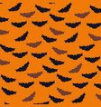 halloween card with bats flying pattern background vector image