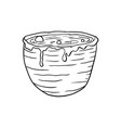 halloween doodle vat potion element isolated vector image