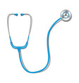 health care concept with blue stethoscope mockup vector image