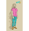 Hipster man in fashion vector image