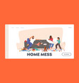 home mess landing page template father shocked vector image