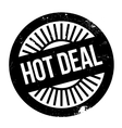 Hot deal stamp vector image vector image