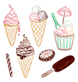 Ice cream design elements vector image vector image