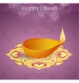 Indian festival Diwali greeting card design vector image vector image