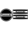 kawasaki gto engine stickers set vector image vector image