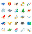 light aviation icons set isometric style vector image vector image