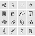 line pills icon set vector image vector image